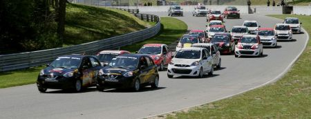 Nissan Micra Cupís debut race, the Spring Classic weekend at Ciruit Mont-Tremblant; May 22-24